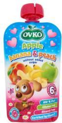 OVKO Alma-banán-őszibarack bébidesszert hozzáadott cukor nélkül 6 hónapos kortól - 120g