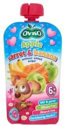 OVKO Alma-sárgarépa-banán bébidesszert hozzáadott cukor nélkül 6 hónapos kortól - 120g
