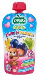 OVKO Alma-szilva-banán bébidesszert hozzáadott cukor nélkül 6 hónapos kortól - 120g