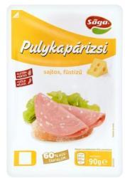 Sága Szeletelt Sajtos Füstízű Pulykapárizsi (90g)