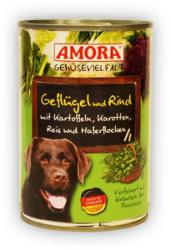 Amora Gemüsevielfalt Hund - Poultry, Beef & Potato 400g