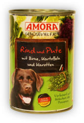 Amora Gemüsevielfalt Hund - Beef, Turkey & Pear 400g