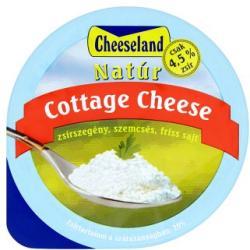Cheeseland Cottage Cheese Natúr Zsírszegény Szemcsés Friss Sajt (150g)