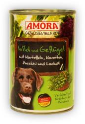 Amora Gemüsevielfalt Hund - Venison, Poultry & Zucchini 400g