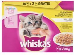 Whiskas Junior Szárnyas Válogatás teljes értékű állateledel junior macskák számára 12 x 100 g