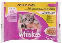 Whiskas Junior Szárnyas Válogatás teljes értékű eledel junior macskák számára aszpikban 4 x 100 g