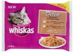 Whiskas Delice teljes értékű állateledel felnőtt macskák számára főtt hússal mártásban 4 x 85 g