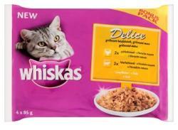 Whiskas Delice teljes értékű állateledel felnőtt macskák számára grillezett húsfalatokkal 4 x 85 g
