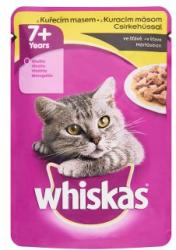 Whiskas 7+ teljes értékű állateledel 7 éves vagy idősebb macskáknak csirkehússal mártásban 100 g