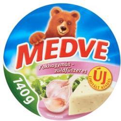 MEDVE Fokhagymás-Zöldfűszeres Kenhető Félzsíros Ömlesztett Sajt (140g)
