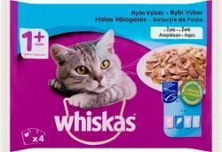 Whiskas Halas Válogatás teljes értékű állateledel felnőtt macskák számára aszpikban 4 x 100 g