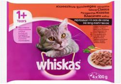 Whiskas Húsos Válogatás teljes értékű állateledel felnőtt macskák számára mártásban 4 x 100 g