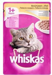 Whiskas Teljes értékű állateledel felnőtt macskák számára borjúhússal krémes szószban 100 g
