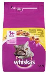 Whiskas Teljes értékű állateledel felnőtt macskák számára csirkehússal 1, 4 kg