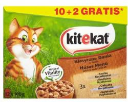 Kitekat Classic Menu Duck, Rabbit, Veal & Turkey 12x100g