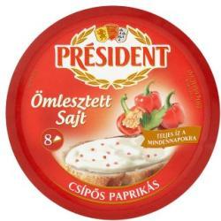PRÉSIDENT Csípős Paprikás Ömlesztett Sajt (17.5g)