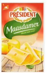 PRÉSIDENT Maasdamer Szeletelt Sajt (100g)