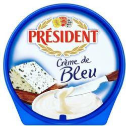 PRÉSIDENT Crème De Bleu Kék Sajt Ízű Kenhető Ömlesztett Sajt (150g)