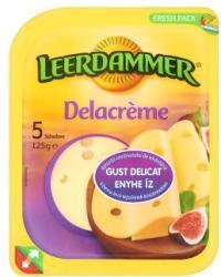 LEERDAMMER Delacrème Zsíros Félkemény Szeletelt Sajt (125g)