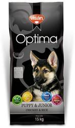 Visán Optima Puppy & Junior Chicken & Rice 15kg