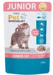 TESCO Pet Specialist Junior teljes értékű állateledel kölyök macskák számára hallal szószban 100 g