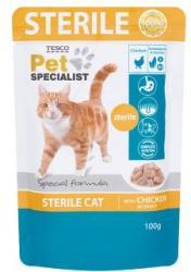TESCO Pet Specialist teljes értékű állateledel ivartalanított macskák számára csirkével 100 g
