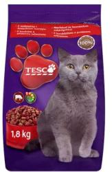 TESCO Teljes értékű állateledel felnőtt macskák számára marhával és hozzáadott zöldségekkel 1, 8 kg