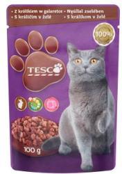 TESCO Teljes értékű állateledel felnőtt macskák számára nyúllal zselében 100 g