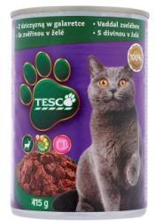 TESCO Teljes értékű állateledel felnőtt macskák számára vaddal zselében 415 g