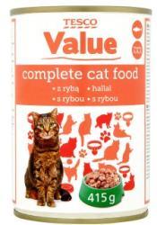TESCO Value teljes értékű állateledel felnőtt macskák számára hallal szószban 415 g