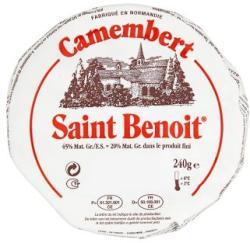 Saint Benoit Camembert Zsíros Fehér Nemespenésszel Érő Lágy Sajt (240g)