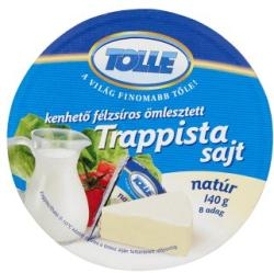 TOLLE Natúr Kenhető Félzsíros Ömlesztett Trappista Sajt (140g)