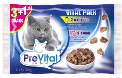 PreVital Vital Pack Chicken & Veal 4x100g
