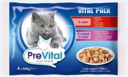 PreVital Vital Pack Beef, Rabbit & Turkey 4x100g