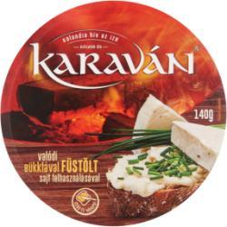karaván Füstölt Ízű Kenhető Ömlesztett Sajt (140g)