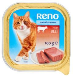 Reno Teljes értékű állateledel felnőtt macskák számára marhával 100 g