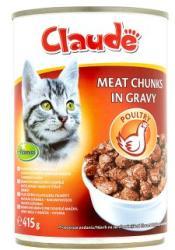 Claude Teljes értékű állateledel felnőtt macskák számára baromfihúsos falatok szószban 415 g