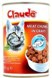 Claude Teljes értékű állateledel felnőtt macskák számára halas falatok szószban 415 g