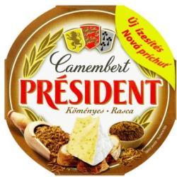PRÉSIDENT Köményes Camembert Sajt (120g)