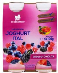 Real Nature Gyümölcsös joghurtital 4 x 100g