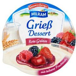MILRAM Grízpuding gyümölcszselével 175g