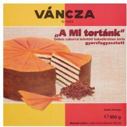 """Váncza """"A Mi tortánk"""" gyorsfagyasztott dobos torta 800g"""