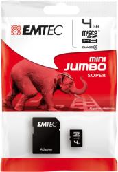 EMTEC MicroSDHC 4 GB Class 4 ECMSDM4GHC4