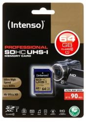Intenso SDXC Professional 64GB UHS-I (3431490)