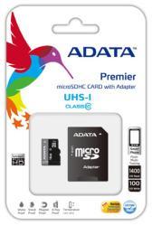 ADATA microSDHC 8GB Class 10 UHS-I AUSDH8GUICL10-RA2