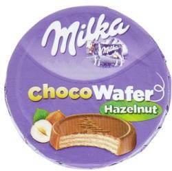 Milka Chocowafer Hazelnut Alpesi Tejcsokoládéval Mártott Ostya Mogyorós Töltelékkel (30g)