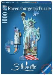 Ravensburger Sziluett puzzle - Szabadság szobor, New York 1000 db-os (16151)
