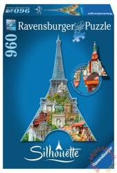 Ravensburger Sziluett puzzle - Eiffel-torony, Párizs 960 db-os (16152)