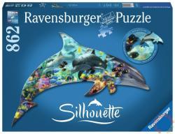 Ravensburger Sziluett puzzle - Delfin 862 db-os (16154)