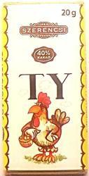 SZERENCSI Állat ABC tejcsokoládé (20g)